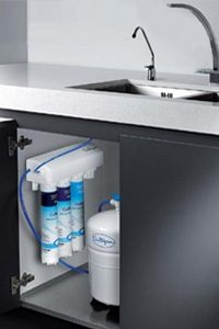 Under the sink reverse osmosis